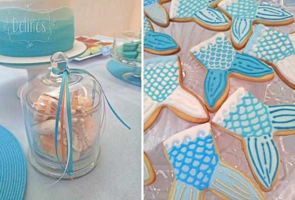 Sirenas deco y detalle cookies