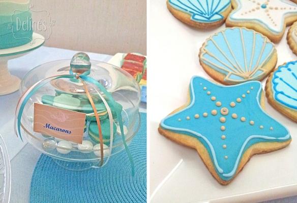 Sirenas macarons y detalle cookies