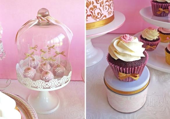 15 años vintage campana y cupcake