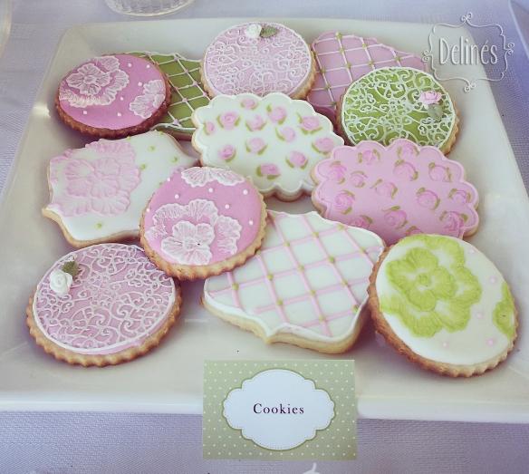 Bautismo delicado y con flores cookies