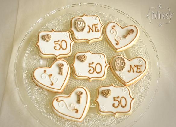 Bodas de Oro cookies arriba
