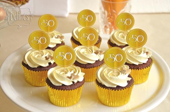 Bodas de Oro cupcakes