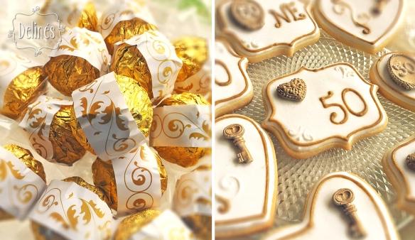 Bodas de Oro ferrero y cookies