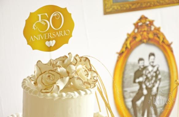 Bodas de Oro torta detalle