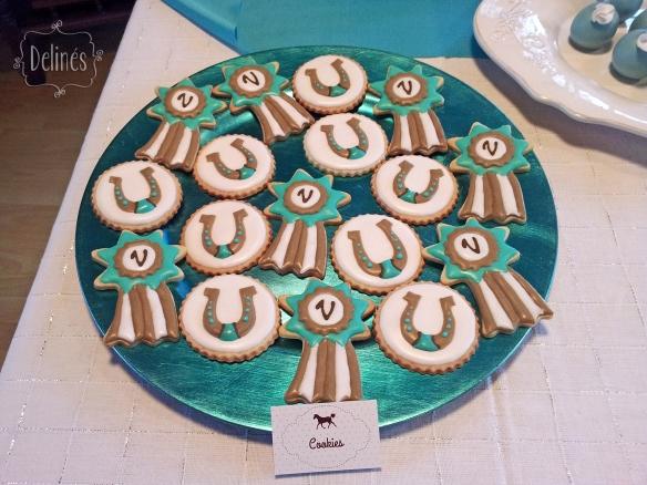 Equitacion cookies cucardas y herraduras