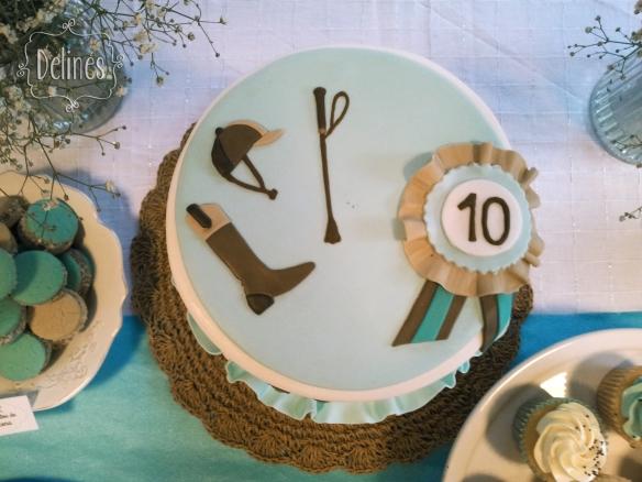 pasteles para bebés equitación