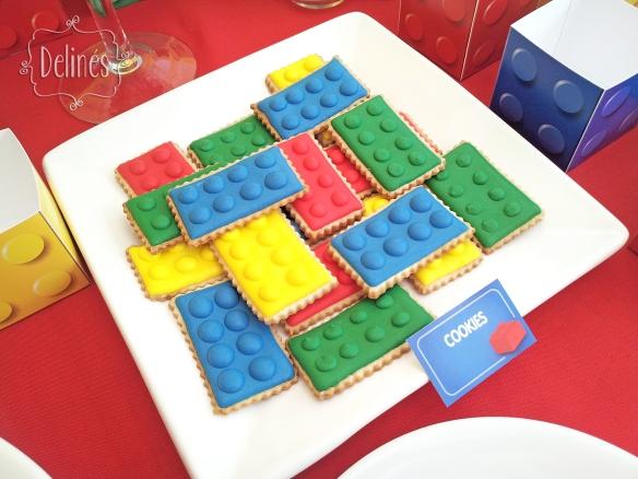 Lego cookies ladrillos costado