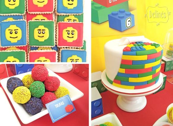Lego cookies trufas y tortas