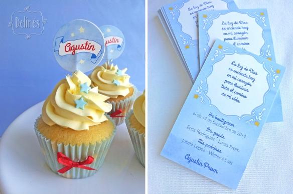 Principito Agustin cupcake y estampitas