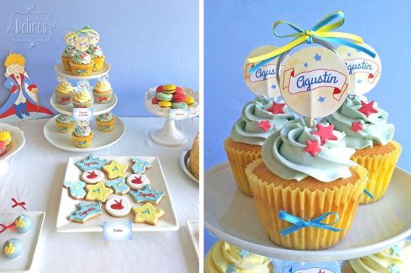 Principito Agustin mesa y cupcakes