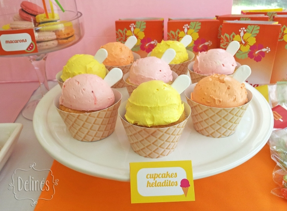 Summer party Ana cupcakes heladitos