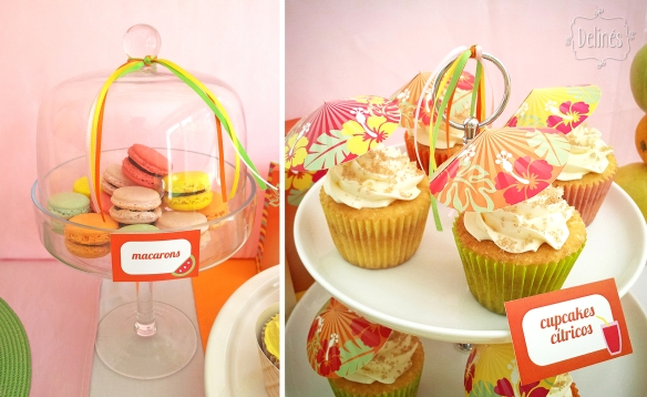 Summer party Ana macarons y cupcakes