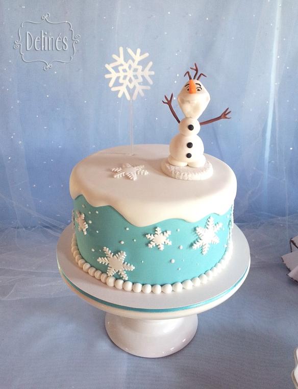 frozen-oli-y-ambar-torta-olaf