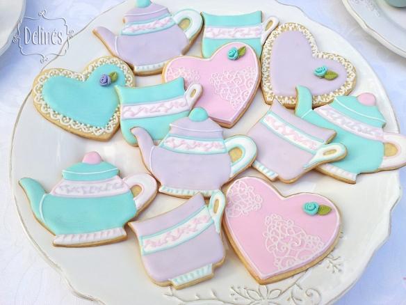 Cookies románticas y femeninas