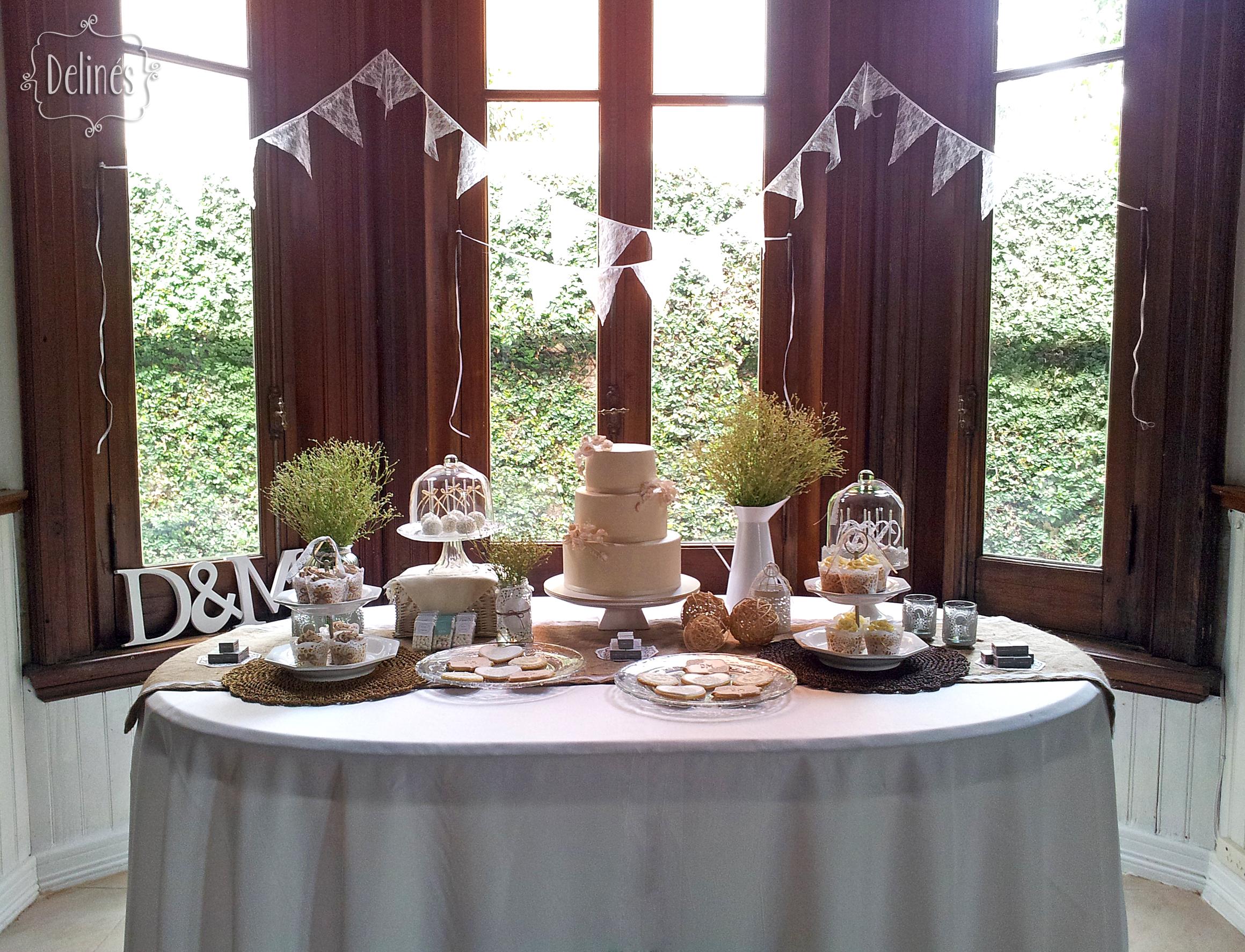 mesa dulce para boda en estilo rstico y chic en tonos naturales nude y crudo