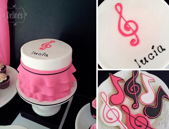 Musical Lucia torta y cookies