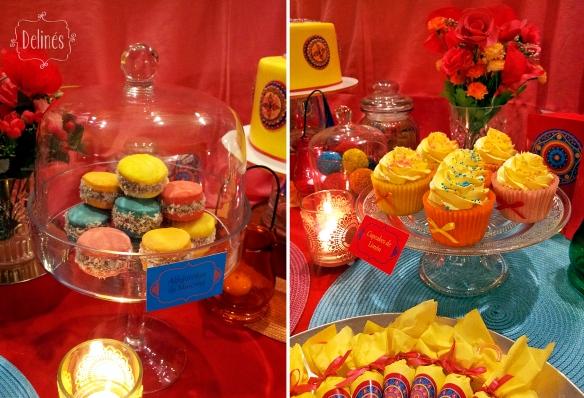 Mandala Francine alfajorcitos y cupcakes
