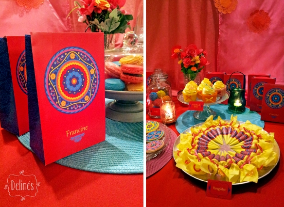 Mandala Francine bolsitas y mesa