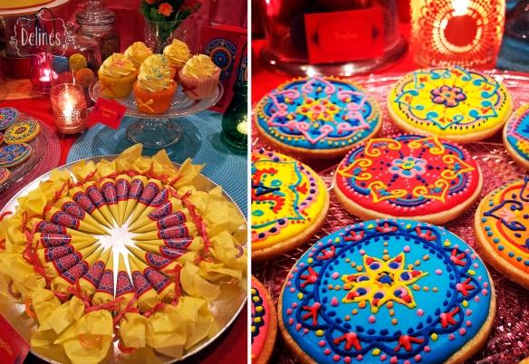 Mandala Francine cookies y paragüitas