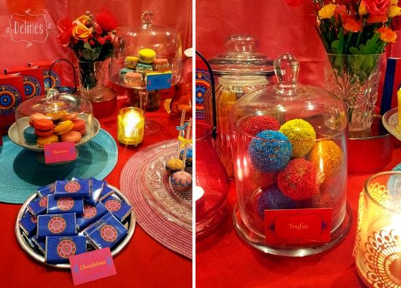 Mandala Francine trufas y mesa