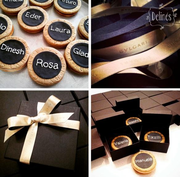 BVLGARI AMENITIES cookies cajas y cintas