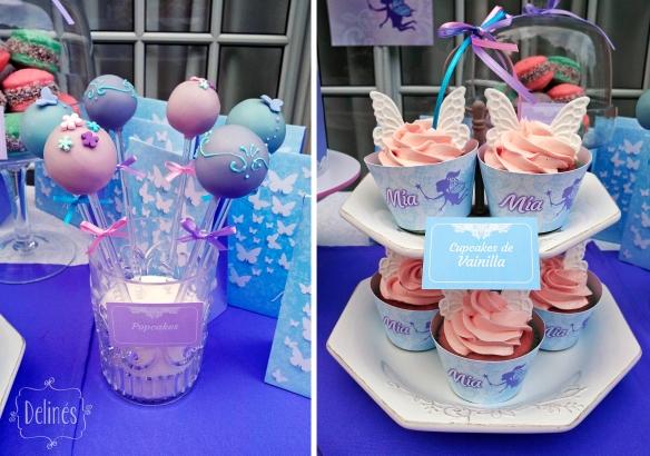 Hadas y flores popcakes y cupcakes