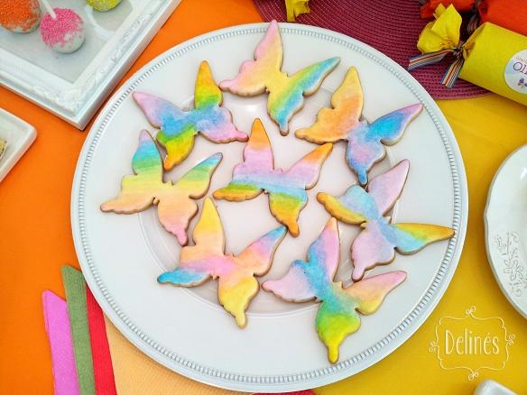 Mariposa multicolor cookies