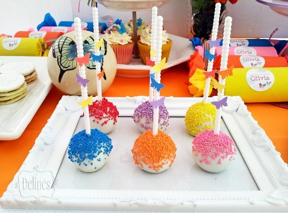 Mariposa multicolor popcakes