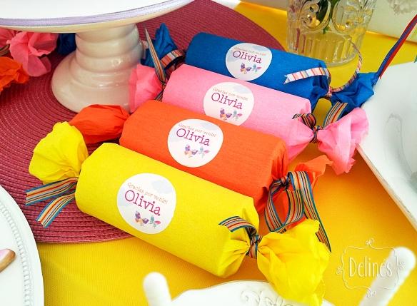 Mariposa multicolor souvenir