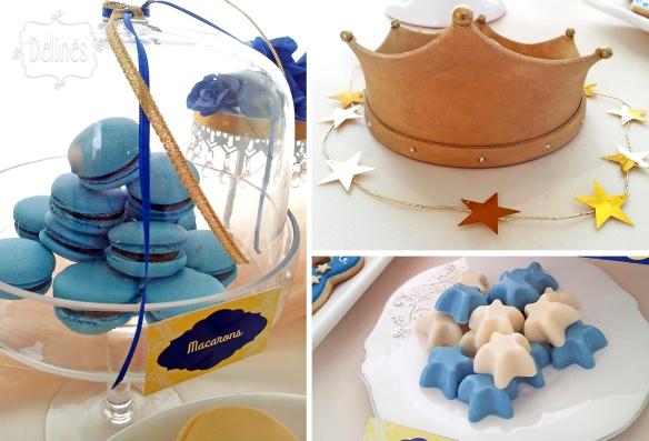 Principito Benjamin bombones corona y macarons