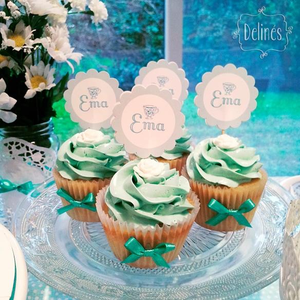 Té romántico cupcakes